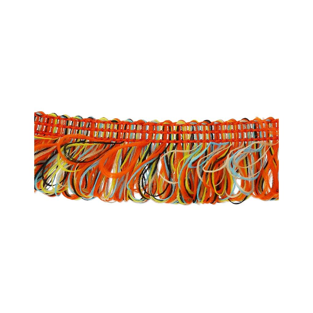 galon franges boucl es 17 mm orange mix x1m perles co. Black Bedroom Furniture Sets. Home Design Ideas