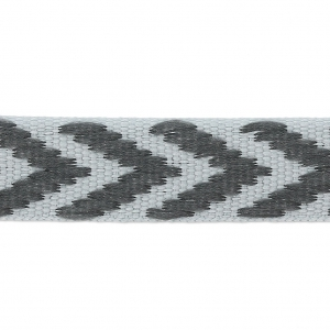 Galon fantaisie chevrons 10 mm Gris x1m