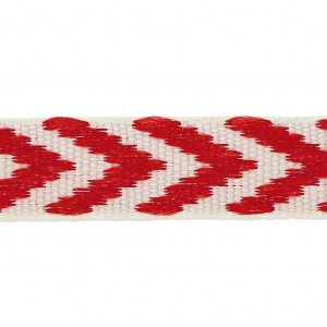 Galon fantaisie chevrons 10 mm Rouge x1m