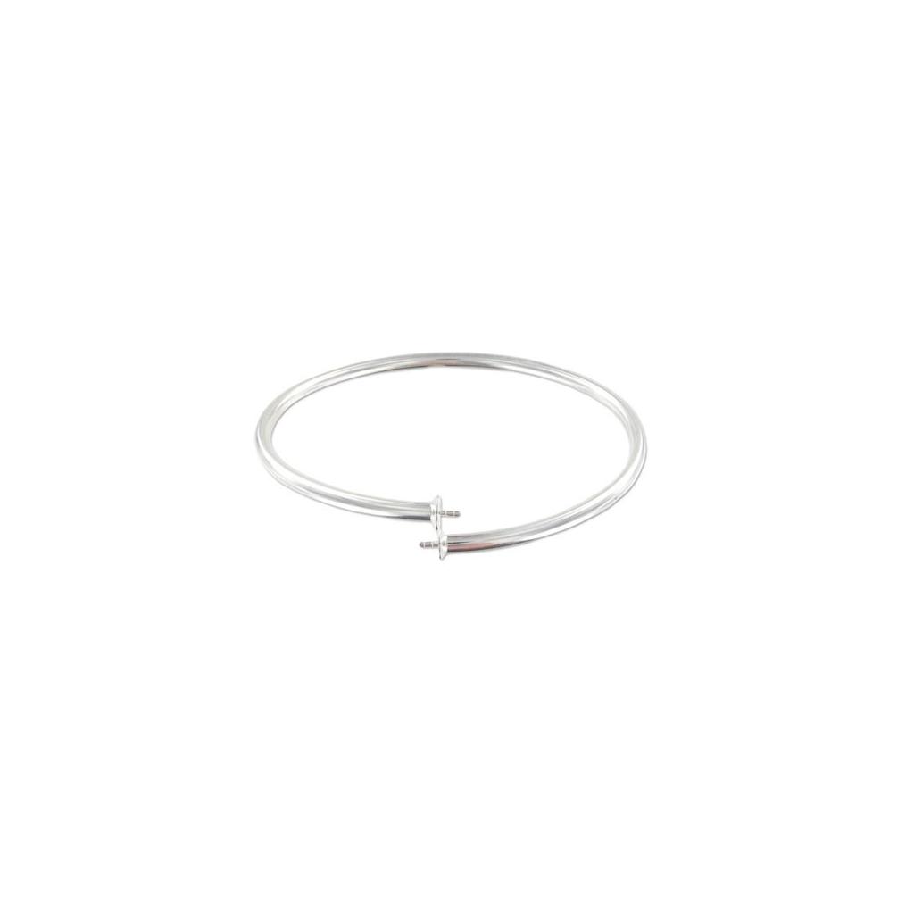 bracelet jonc flexible 17 cm pour semi perc es en argent 925 perles co. Black Bedroom Furniture Sets. Home Design Ideas