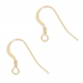 Crochets d'oreilles 14 mm en Gold filled 14 carats  x2