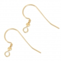Crochets d'oreilles 17 mm en Gold filled 14 carats  x2