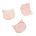 Perle tête de chat en Nacre 10 mm Light Rose x1