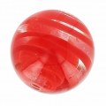 Ronde Murano 12 mm striée Rouge x1