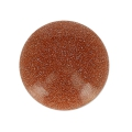 Cabochon rond 15 mm Gold stone