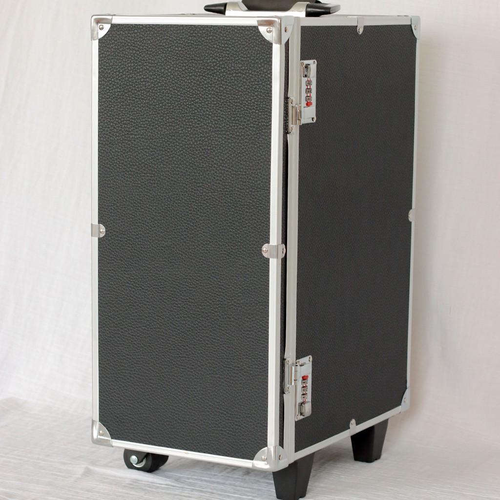 valise transport bijoux avec plateaux 51x23x33 5 cm blanc paillet perles co. Black Bedroom Furniture Sets. Home Design Ideas