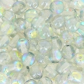 Perles rondes 4 mm Crystal Blue Rainbow x50