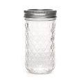 Bocal Mason Jar Ball 12 oz motif diamant  x1