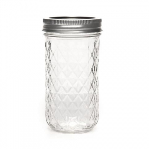 bocal en verre mason jar ball pot mason 12 oz 360 ml motif diama perles co. Black Bedroom Furniture Sets. Home Design Ideas