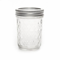Bocal Mason Jar Ball 8 oz motif diamant  x1