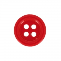 Bouton rond 4 trous 14 mm Rouge x1