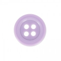 Bouton rond 4 trous 14 mm Lilas x1