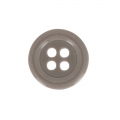Bouton rond 4 trous 14 mm Taupe x1