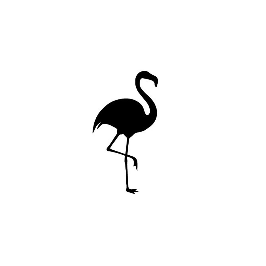 Tampon Support Bois Flamingo 5 X 25 Cm Flamant Rose X1
