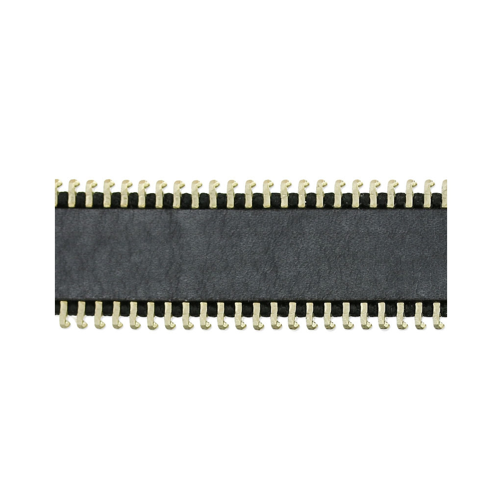 lacet cuir bordure zip 20 mm gris anthracite x 30cm - perles & co
