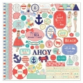 Planche de stickers Julie Nutting Nautical Bliss 30x30 cm Element Stickers