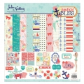 Assortiment cardstock et stickers Julie Nutting 30.5x30.5 cm Nautical Bliss