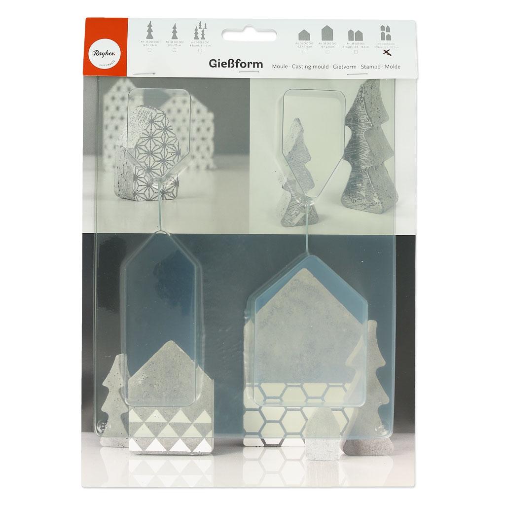 moule pour b ton cr atif 5 5 10 5 cm maisons perles co. Black Bedroom Furniture Sets. Home Design Ideas