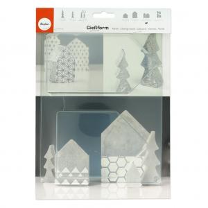 moule pour b ton cr atif 13 5 16 5 cm maisons perles co. Black Bedroom Furniture Sets. Home Design Ideas