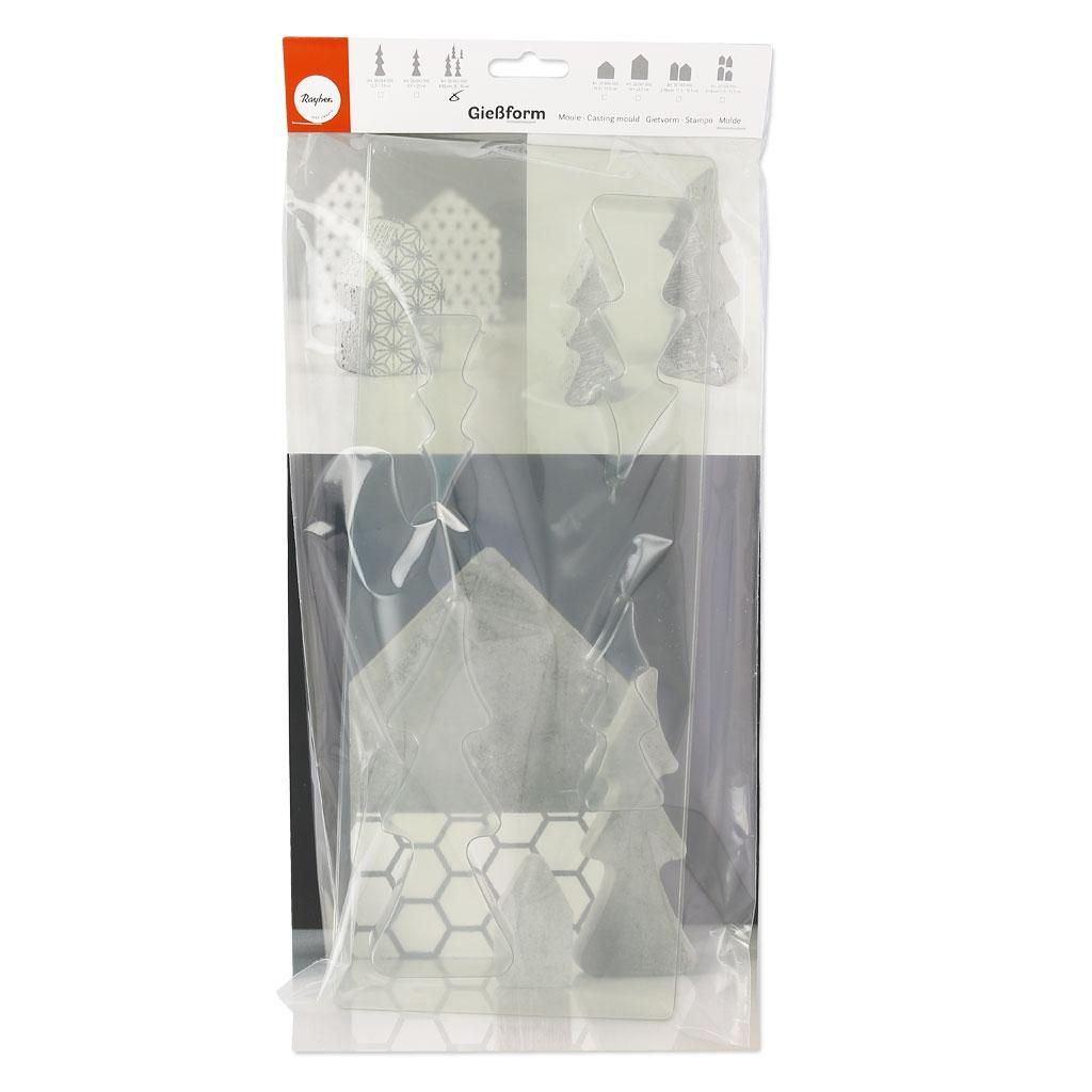 moule pour b ton cr atif 8 16 cm sapins perles co. Black Bedroom Furniture Sets. Home Design Ideas