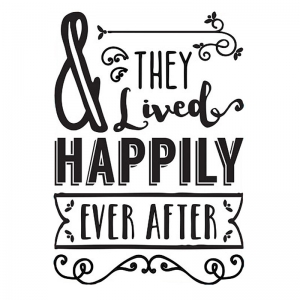 Transfert thermocollant & they lived happily ever after 24.8x17 cm Noir x1