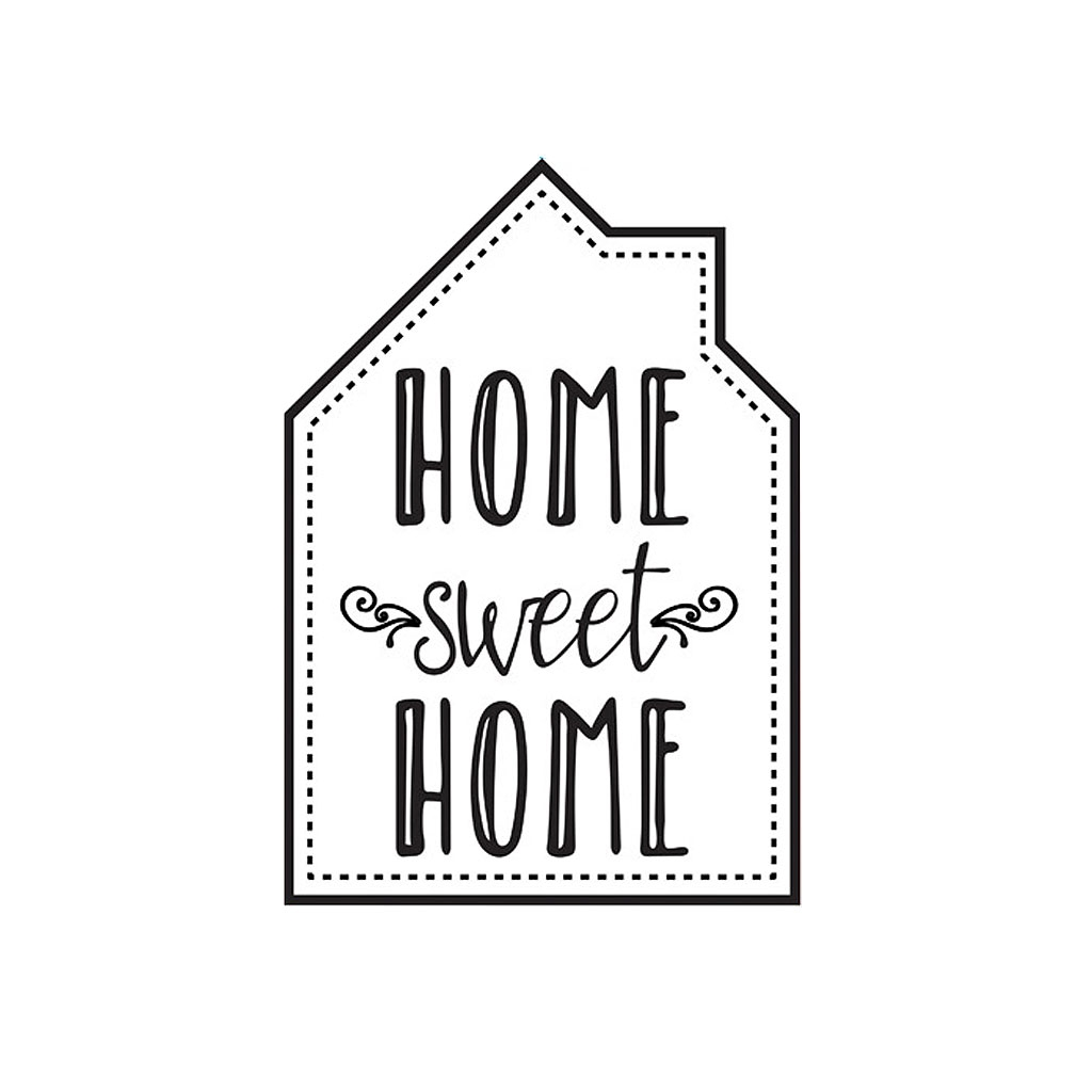 Transfert thermocollant home sweet home cm noir x1 for Ome images