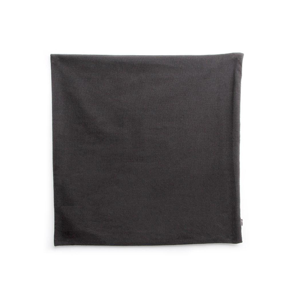 Housse de coussin en coton avec zip 40x40 cm Noir   Perles & Co