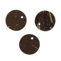 Sequins ronds coco 15 mm Brun x8