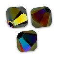Toupies Swarovski 6 mm Crystal Rainbow Dark 2X x20