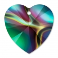 Coeur Swarovski 6228 14,4x14 mm Crystal Rainbow Dark x1
