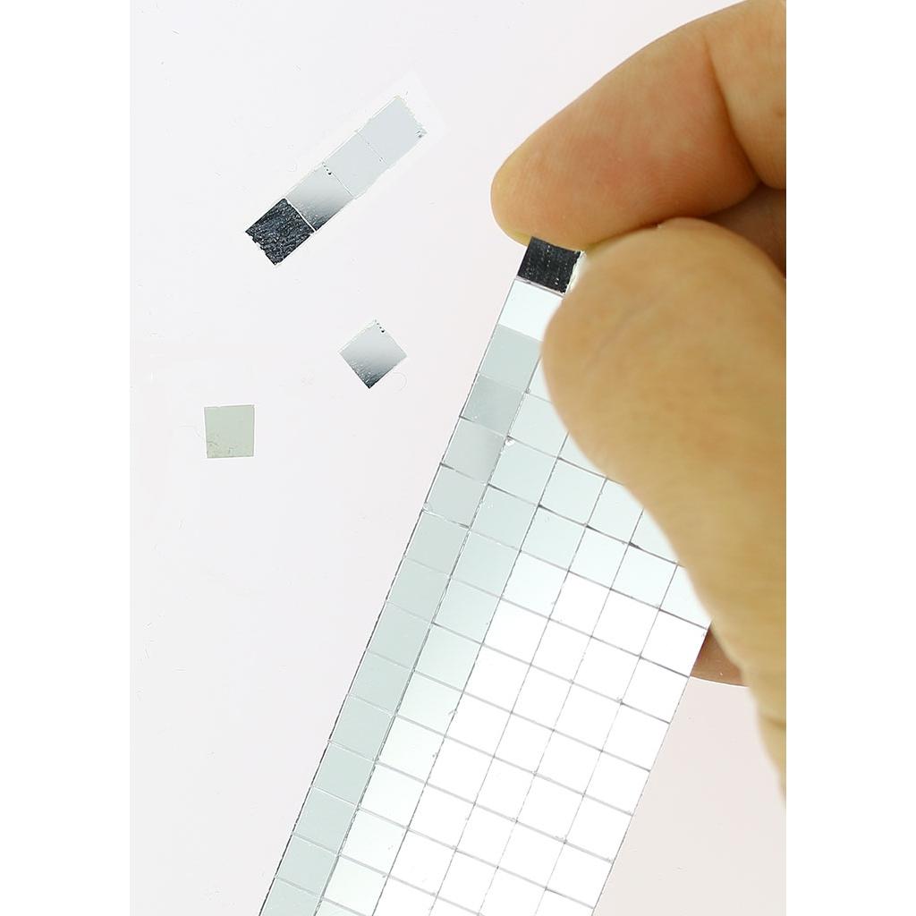 Set de 408 mosa ques miroir en verre carr 5x5 mm - Mosaique miroir autocollante ...