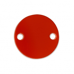 Intercalaire rond 2 trous en plexiglas 15 mm Rouge Semi-opaque x1