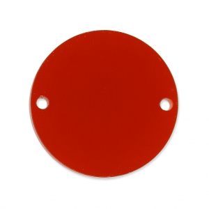 Intercalaire rond 2 trous en plexiglas 20 mm Rouge Semi-opaque x1