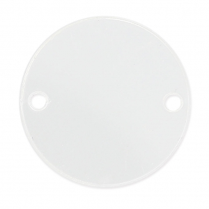 Intercalaire rond 2 trous en plexiglas 25 mm Crystal x1
