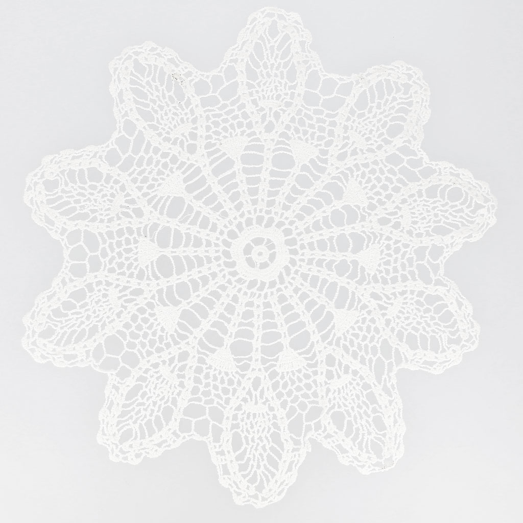 Napperon crochet dentelle ananas 29 cm blanc x1 perles co - Napperon dentelle crochet ...