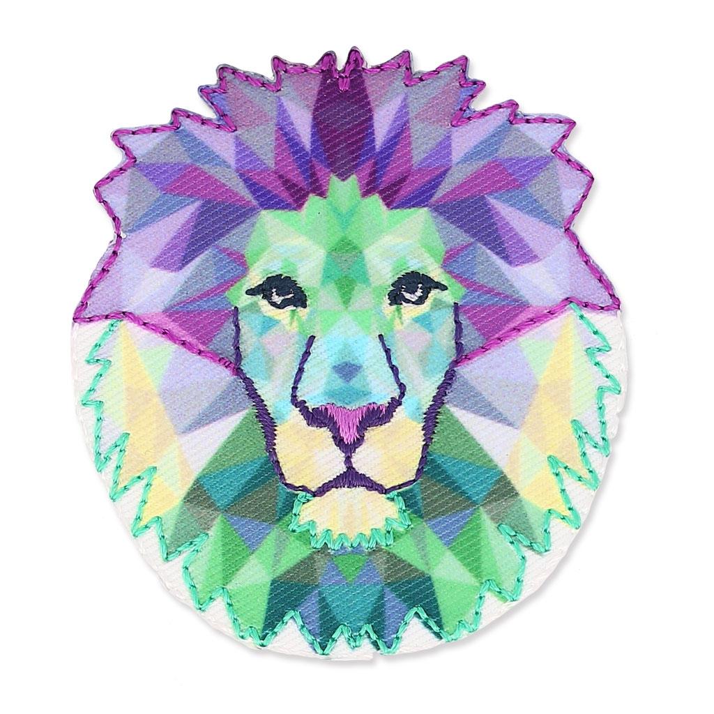 Ecusson thermocollant origami 50x55 mm t te de lion x1 - Tete de lion dessin facile ...