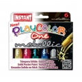 Set de 6 sticks de gouache solide pour enfant Playcolor One Metallic