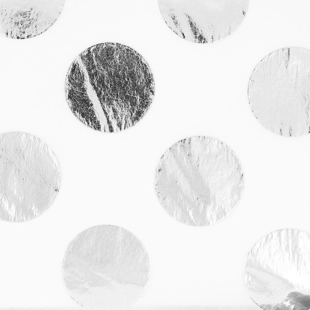 papier de soie pois paper poetry 50x70cm blanc silver x2. Black Bedroom Furniture Sets. Home Design Ideas