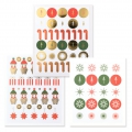 Stickers Paper Poetry Puristic Christmas Saint Nicolas 15 motifs x182