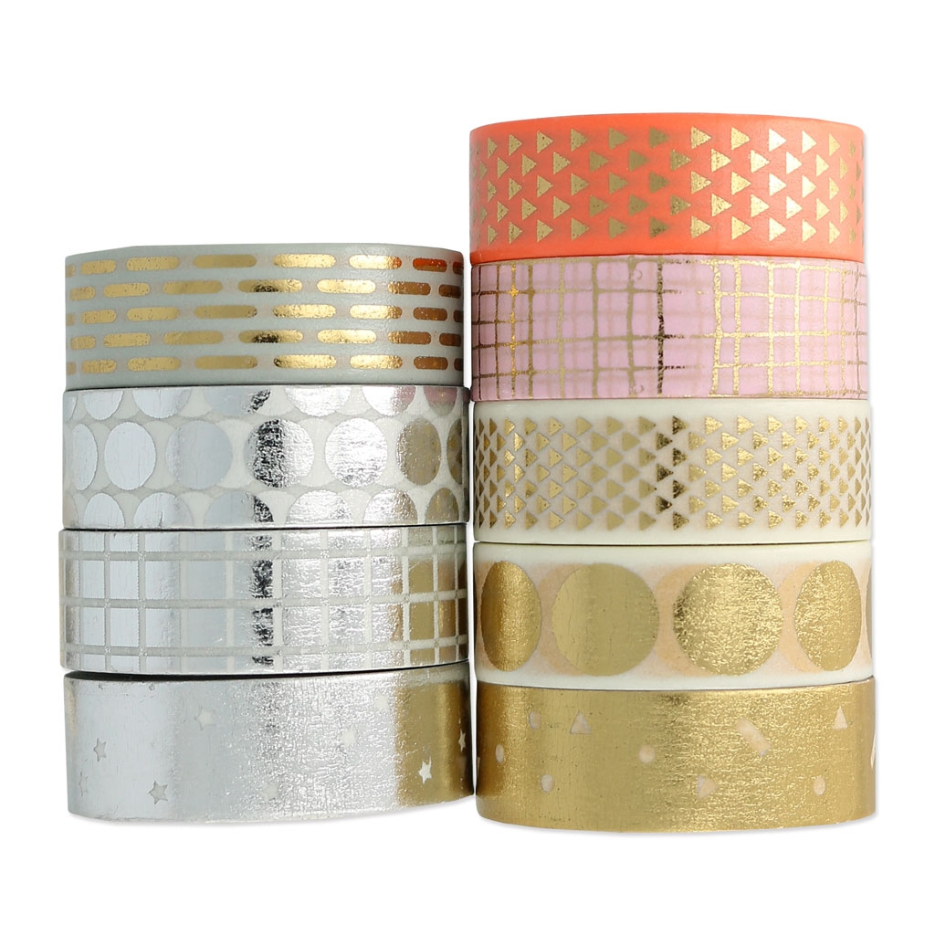 ruban adh sif paper poetry tape 15 mm etoile argent x10m pape perles co. Black Bedroom Furniture Sets. Home Design Ideas