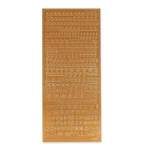 planche de stickers en relief peel off 39 s 10x23 cm alphabet cuivr perles co. Black Bedroom Furniture Sets. Home Design Ideas
