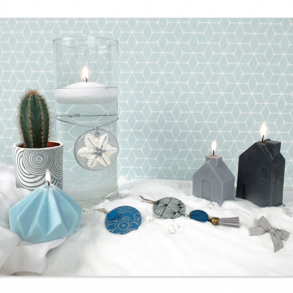 moule latex pour création de bougies 65x110 mm maison x1 - perles & co