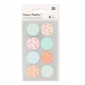Stickers Paper Poetry Etoiles 25 mm Pastel/Argent�/Dor� x32