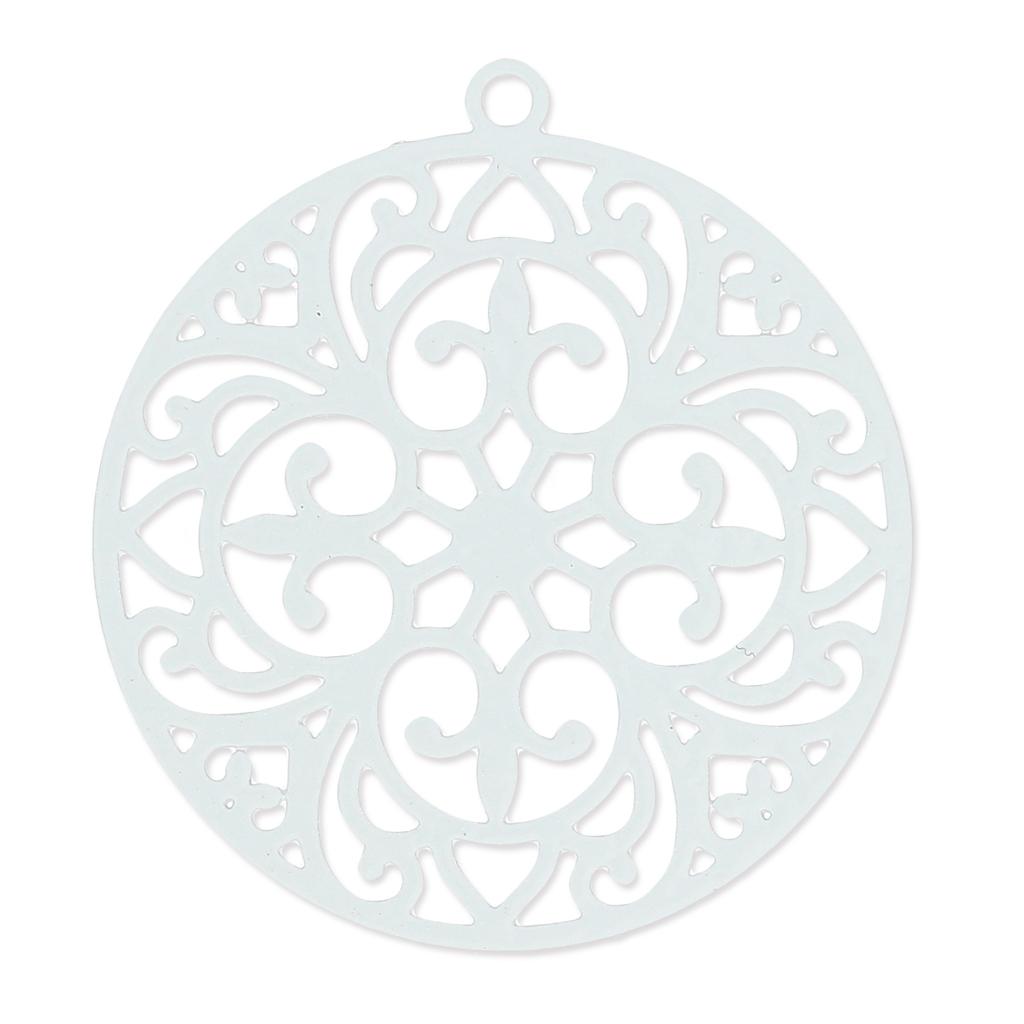 Teinte De Gris Clair pendentif teinté laser cut rond 30 mm gris clair x1