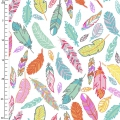 Tissu 3 Wishes Fabric - Cholena Feathers White  x10cm