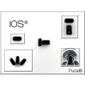 IOS® par Puca® 5,5x2,5 mm Opaque Light Green Ceramic Look x10g