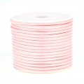 Cordon polyester imitation serpent type snake cord 2 mm Light Rose x10 m
