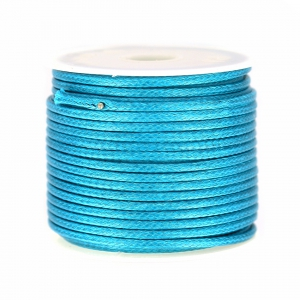 Cordon polyester imitation serpent type snake cord 2mm Green Turquoise x10m