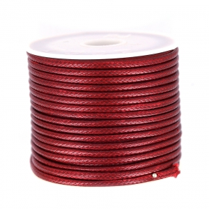 Cordon polyester imitation serpent type snake cord 2 mm Bordeaux x9 m