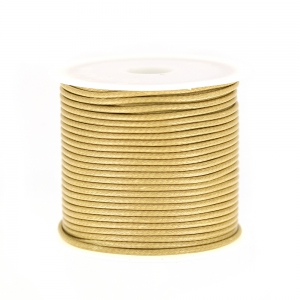 Cordon polyester imitation serpent type snake cord 1.5 mm Beige x10 m